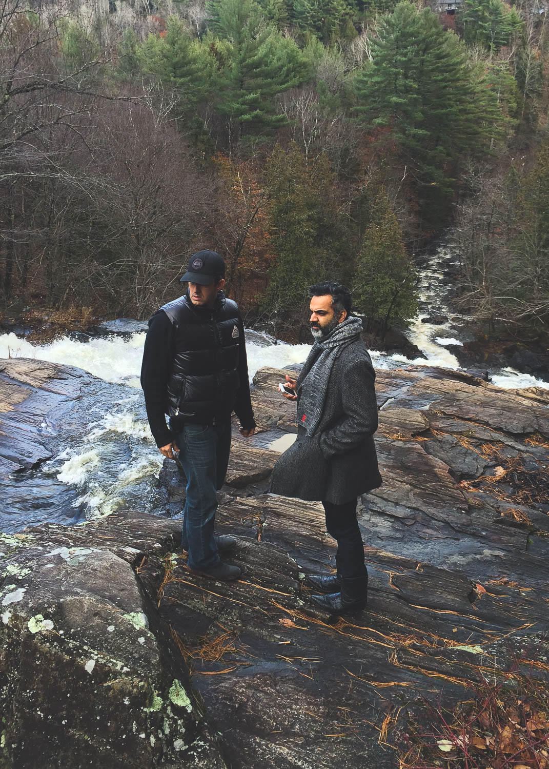 Director Arshad Khan and DOP Richard Duquette, during the location scouting in Rawdon, Quebec for their next film, Valery's suitcase.