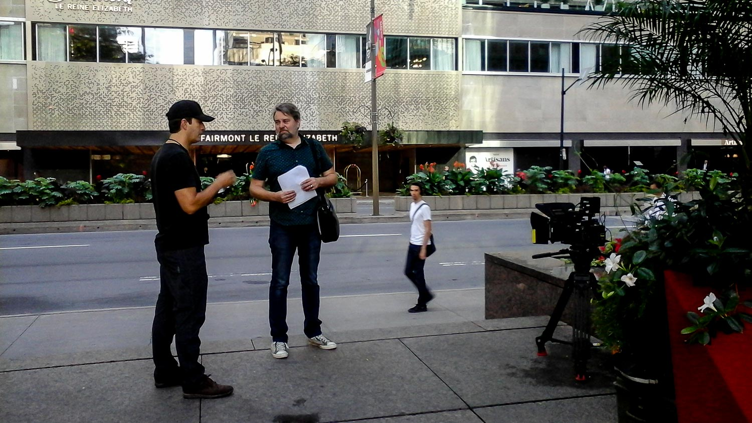 Richard Duquette Director of photography montreal during a production for ParticipAction